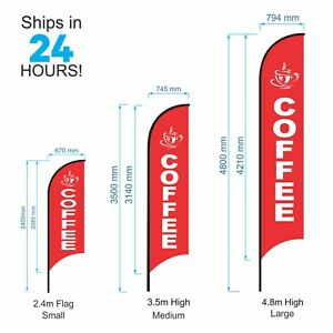 Coffee Flag / Outdoor Coffee Advertising Promotion Flag Banner - Parts or Set