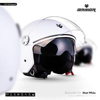 ARMOR AV-63 Matt White Jet-Helm Roller-Helm Vespa Motorrad-Helm XS S M L XL XXL