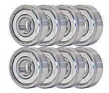 8-Pack Skateboard Bearings / 608zz 8mm / longboard/roller skate/inline/hockey
