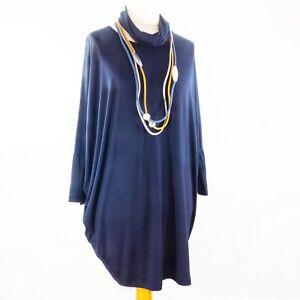 Lagenlook Batwing Dress in Navy Blue from Timeless Season