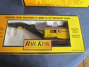 MTH Rail King 30-7916 Chessie Operating Crane Car  - O Gauge