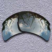 Black Iridium Mirror Replacement Lenses For-Oakley Flak 2.0 XL OO9188 Polarized