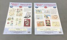 Lot of 2 Mabel Lucie Attwell Papercraft Kit by Katy Sue Designs 3D Die Cut Cards
