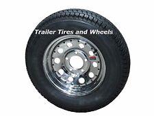 "175/80D13 LRC 6 PR AR Bias Trailer Tire on 13"" 5 Lug Chrome Mod Wheel B78-13"