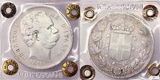 5 LIRE 1878 UMBERTO I REGNO D'ITALIA ITALY (1 TIPO) MB F MOLTO RARA #P98