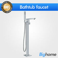 Bathroom Bathtub Faucet Handheld Handles Mixer Tap Chrome Brass Floor Mounted