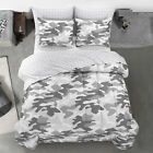 Twin XL Gray Camouflage Bed in a Bag Bedroom Comforter Sheet Pillow Cases