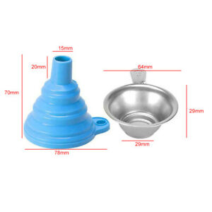 3D Printer Metal UV Resin Filter Cup Silicon Funnel For ANYCUBIC Photon SLA Blue