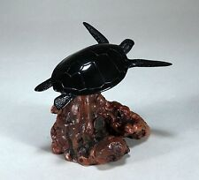 "SEA TURTLE Figurine New direct from JOHN PERRY 6in high ""EBONITE"" Statue"