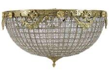 Illuminazione cristallo Plafoniera in ottone oro 50 cm #MB8.0