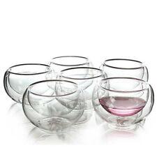 Китайская чайная чашка прозрачные тепла доказательство чашки набор чайный сервиз 6Pcs с двойными стенками стекло