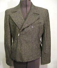 LAUREN by RALPH LAUREN wool tweed motorcylcle jacket fully lined Sz 8 EX cond