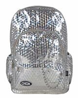 CHOK HOLO SILVER 3D REFLECTIVE BACKPACK RUCKSACK Rave Unisex School College Bag