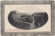 Corvallis,Oregon,Armory from Administration Bldg.Picture Frame Border,Used,1916