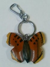 Chunky Wooden Butterfly Keyring