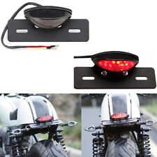 LED Motorcycle Turn Signal Brake License Plate Integrated Tail Light Smoke Len B