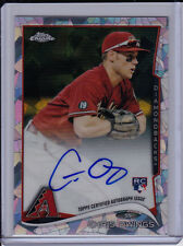 Chris Owings 2014 Topps Chrome Atomic Refractor Auto #'d /10 Rookie Autograph