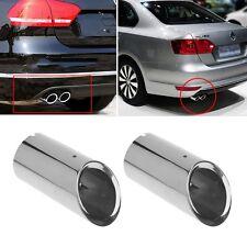 2xStainless steel Exhaust Muffler Pipe For Volkswagen Jetta MK6 VW Golf 6 Golf 7