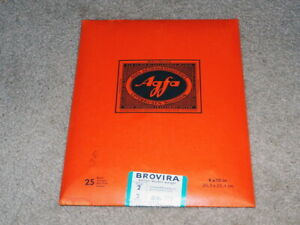 Vintage AGFA Photographic Paper Grade 2   BW119   8x10 in   25 sheets Expired