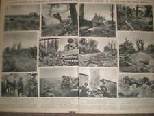 Photo article WWII British army in action Caen front France 1944 ref AP
