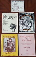 DULCIMER BOOKS - Set of 5 - Renaissance and Elizabethan arrangements