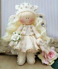 Angle poupée de chiffon UK Made Tilda poupée Unique doll art Poupée Angelica 8 in (environ 20.32 cm) Tall