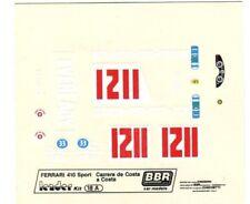 FERRARI 410 SPORT N°1211 CARRERA DE COSTA A COSTA 1964 LEADER BBR DECALS 1/43