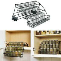 Rubbermaid Pull Down Cabinet Spice Rack Tier Organizer Wire Holder Storage
