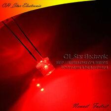 100PCS 5 mm LED Diodos agua de cabeza plana 2pin Gran Angular de luz roja clara