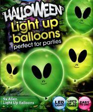 Alien illoom Globos-Spooky Luz Led Verde Up Glow Globos - 5 Pack illooms