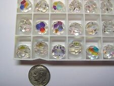 72 PIECES VINTAGE SWAROVSKI BEADS #5000 11MM CRYSTAL AB - FACTORY PACKAGE