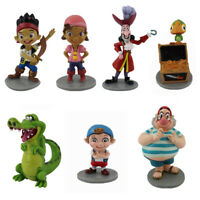 7PCS/ Set Jake And The Neverland Pirates PVC Figure Figurine Toy Dolls 5-9cm