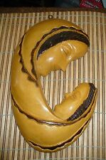 """Vintage Carved Wooden Wall Hanging """"MOTHER AND CHILD"""""""