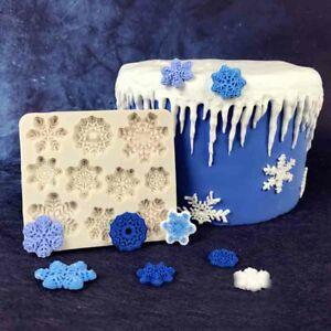 Silicone Snowflake Fondant Mold Cake Candy Decorating Baking Xmas Border Mould
