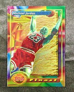 1993-94 Topps Finest Michael Jordan first Refractor? looks GEM MINT Card #1