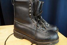 Men's Work Boots, Logger, Fireman, Hiking,moto Boots Black Zipper Vibram Size 9D