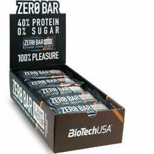 BIOTECH USA ZERO BAR BOX 20 BARRETTE PROTEICHE CHOCO COCCO