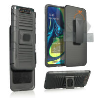 For Samsung Galaxy A80 Holster Belt Clip Case Hybrid Defender Phone Cover Magnet
