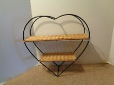 Heart Wire Wicker Wall Shelf