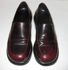 DANSKO Womens Black & Burgundy Leather Slip On Loafers EU38 Size 8