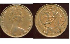 AUSTRALIA  AUSTRALIE  2 cents  1966   ( etat )