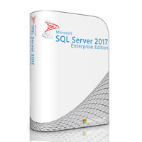 Microsoft SQL Server 2017 Enterprise with 40 Core License, unlimited User CALs