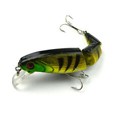 "4.13"" 3 Segments Multi-Jointed Hard Fishing Lure Swimbait Crank Bait 2 Hooks"
