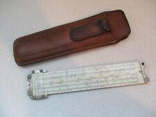 """Vintage Pickett Pocket 6"""" Slide Rule No. 600 Chicago with Original Leather Case"""