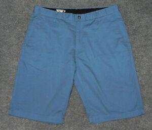 "VOLCOM FRICKIN VMONTY SOLID CHINO SHORT 11"" Ins Regular Fit Blue sz 36 shorts"