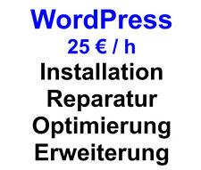 WordPress - Webseite / Shop überarbeiten, installieren, optimieren, DSGVO