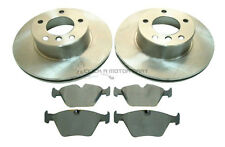 BMW E39 525D TD TDS 530D 1996-2000 FRONT 2 BRAKE DISCS AND PADS SET NEW