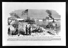 Leslie Civil War Print Federal Capture of Fort Thompson New Berne North Carolina