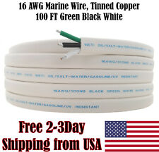 16 AWG Gauge Triplex Tinned Copper Outdoor Trailer Marine Wire Boat Cable 50FT