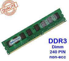Memoria DDR3 1GB/GO MICRON PC10600U-1333Mhz CL9 MT8JTF12864AZ-1G4F1 240PIN 1Rx8